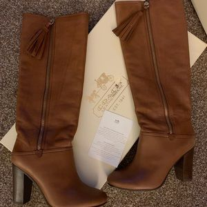 Coach therse riding boot size 8b